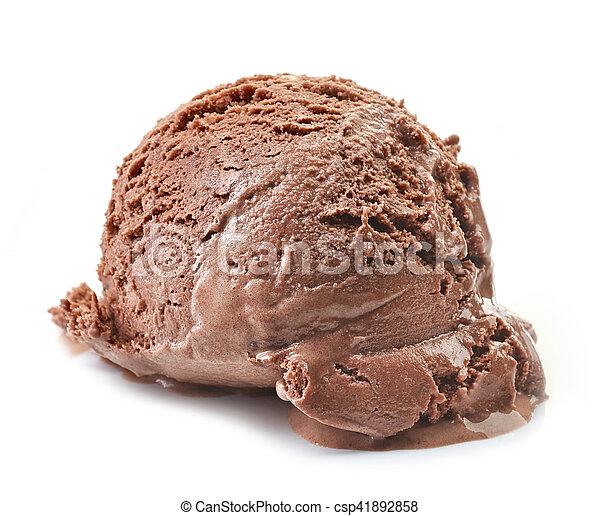 Helado de chocolate - csp41892858