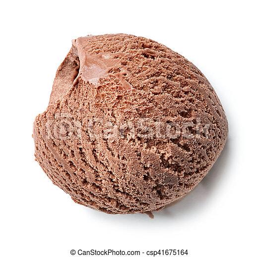 Helado de chocolate - csp41675164