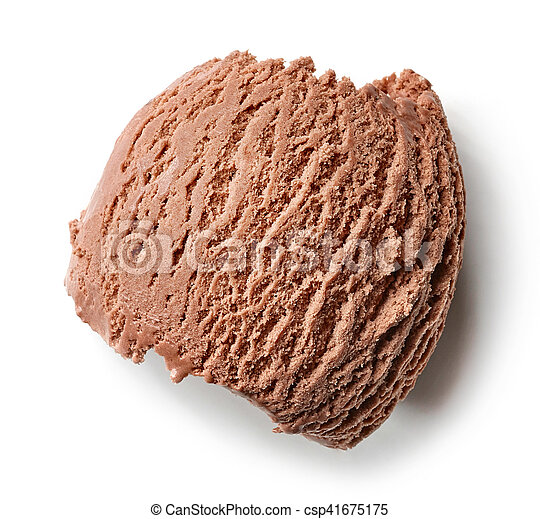 Helado de chocolate - csp41675175