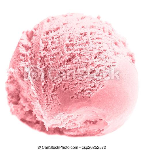 Helado de fresa - csp26252572