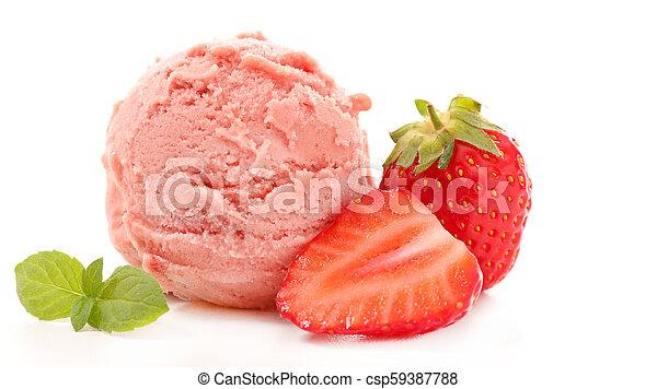 Helado de fresa - csp59387788