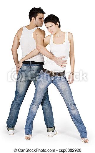 helder, paar, mooi, jonge, afbeelding - csp6882920