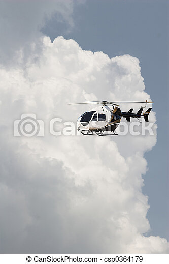 helecopter & Clouds - csp0364179