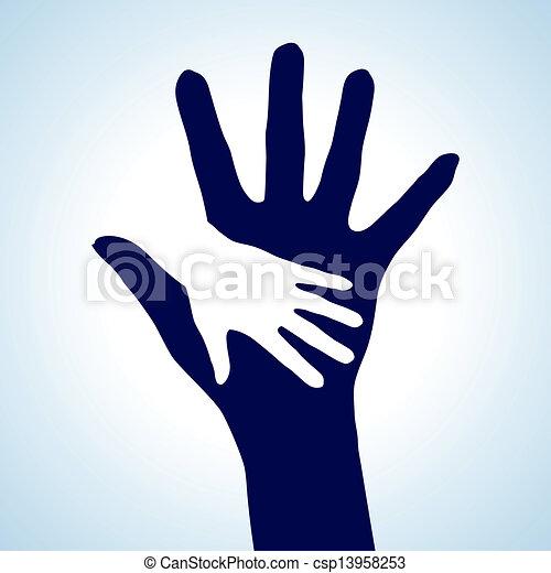 Ich helfe den Händen - csp13958253
