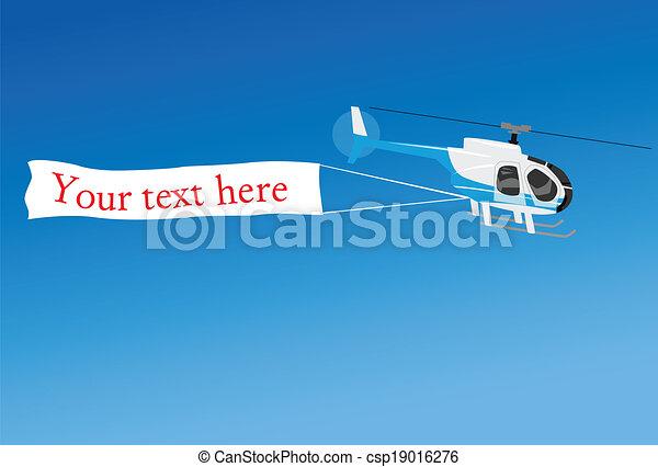 helicóptero, aéreo, anunciando - csp19016276