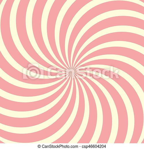 Helical circular background, Lollipop twisted rays vector - csp46604204