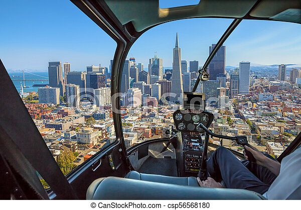 Helicopter in San Francisco - csp56568180
