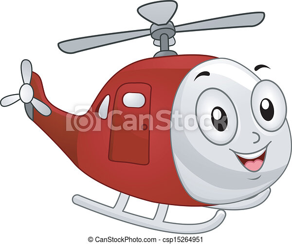 Helicopter Mascot - csp15264951