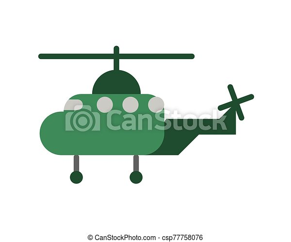 helicopter military force isolated icon - csp77758076