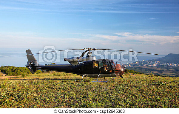 Helicopter - csp12645383