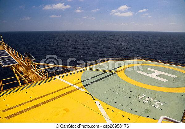 helideck, gas, perforar aceite - csp26958176
