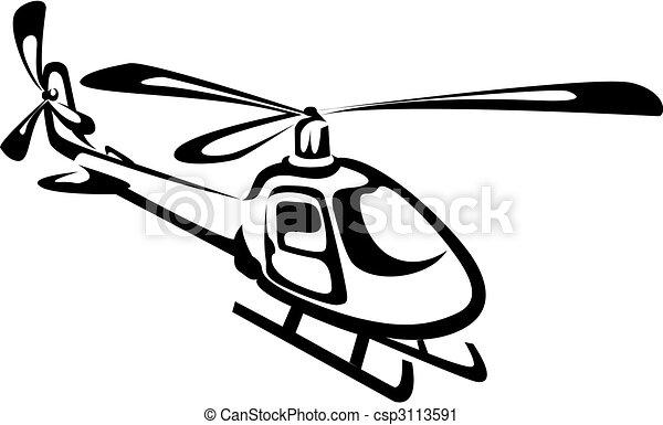 helikopter, vliegen - csp3113591