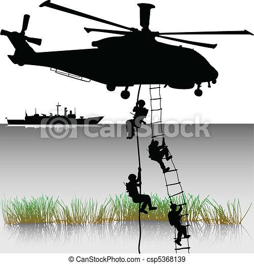 helikopterek, leszállás - csp5368139