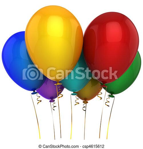 Helium multicolor balloons (Hi-Res) - csp4615612