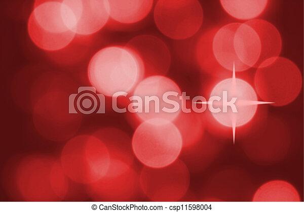 hell, gezwungen, farbig, fokus., lichter, baum., weihnachten, heraus - csp11598004