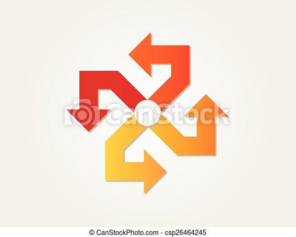 helling, cirkel, pijl - csp26464245