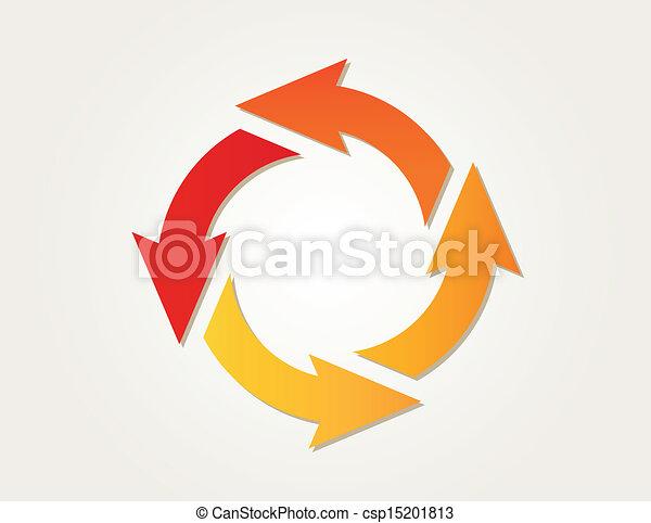 helling, cirkel, pijl - csp15201813