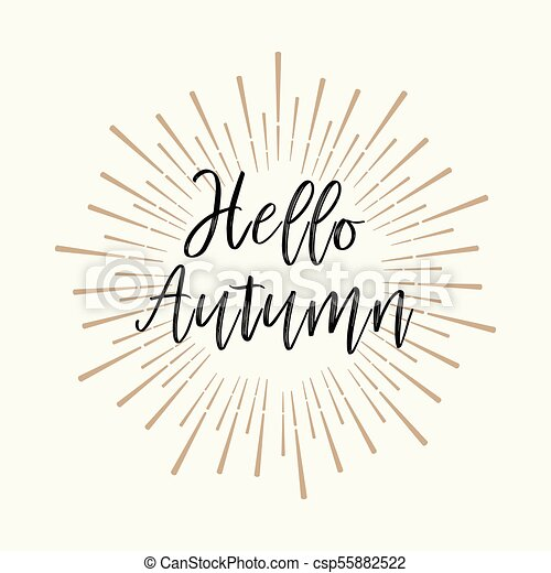 Hello Autumn Gold Glitter Background Inspirational Quotes About Travel Positive Journey Phrases To Poster Greeting Card