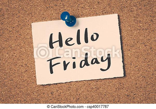 Hello Friday - csp40017787