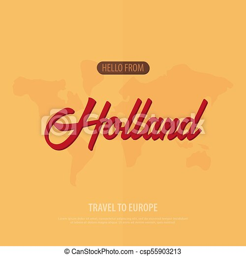 Hello from holland travel to europe touristic greeting card hello from holland travel to europe touristic greeting card vector illustration m4hsunfo