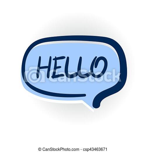 Hello Hi Welcome Comic Text Shadow