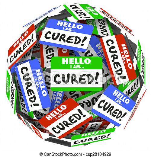 Hello I Am Cured Words Name Tags Treatment Healed Better Health