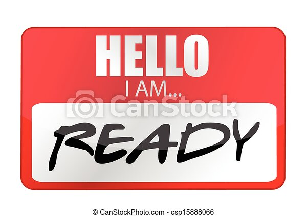 Hello I am ready tags. Illustration design - csp15888066