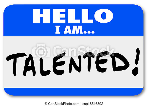 Hello I Am Talented Name Tag Job Fair Introduction Networking - csp18546892