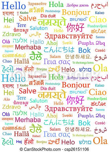 Hello in different languages - csp26151106