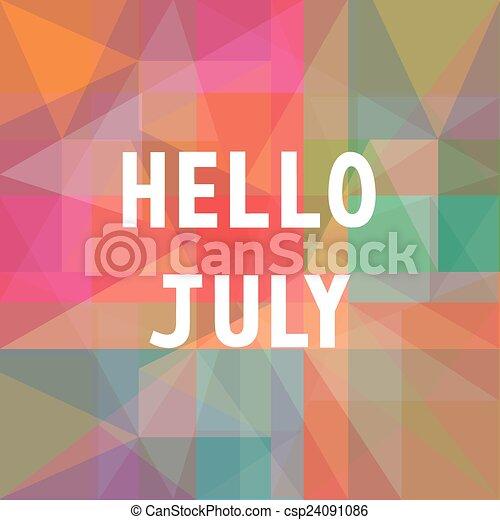 Hello July Card1   Csp24091086