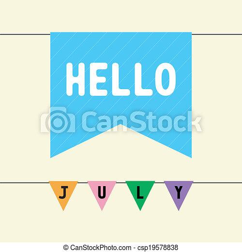 Hello July   Csp19578838
