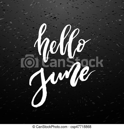 hello june brush lettering vocation cards banners posters design