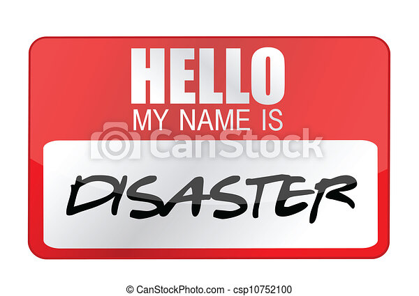 hello my name is disaster name tag illustration design vector rh canstockphoto com missionary name tag clip art name tag clip art free