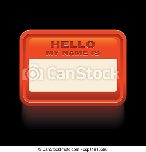 hello my name is - csp11915598