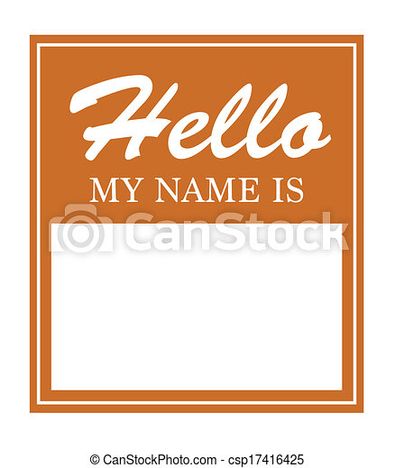 Hello My Name Is Sticker - csp17416425