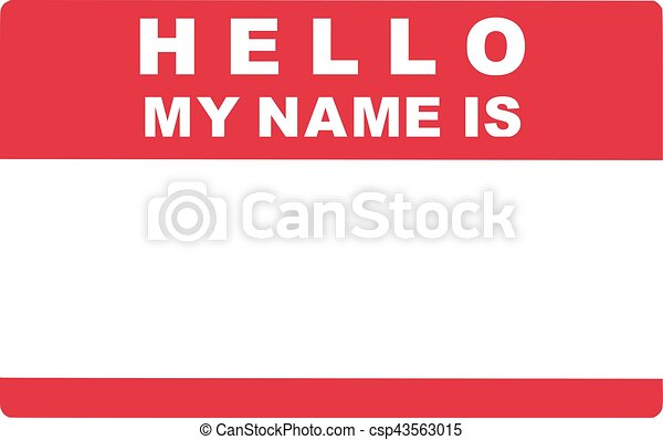 Hello My Name Is Tag Lable Lable label adhesive canned food bottle adhesive lable sticker lable printing. can stock photo