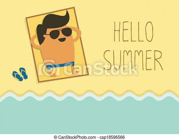 Hello Summer - csp18596566