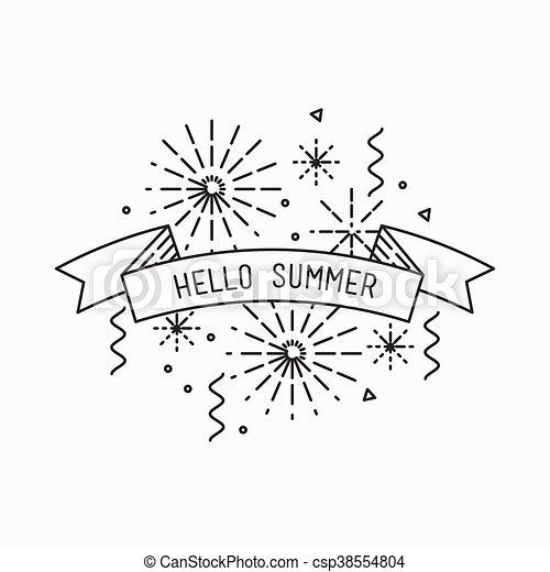 Hello Summer Inspirational Vector Illustration Motivational Quotes