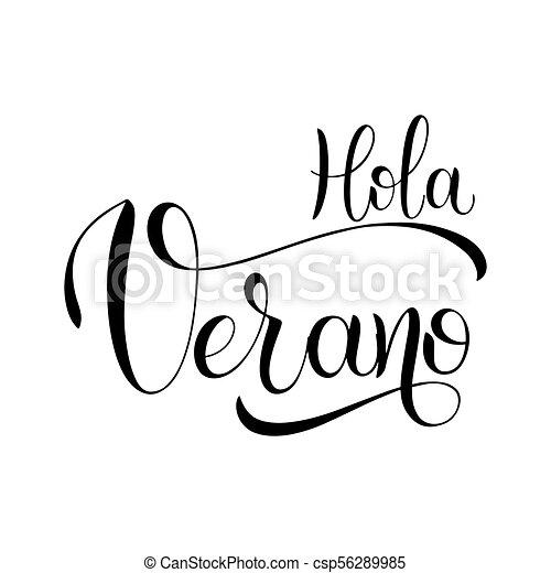 hello summer lettering hola verano hello summer lettering on rh canstockphoto ca hula clip art hula clip art
