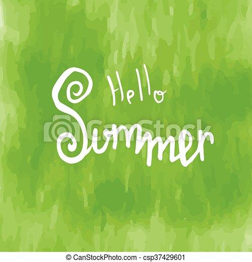 Hello Summer Summer Season Summer Wallpaper Summer Time Happy Summer Summer  Day   Csp37429601