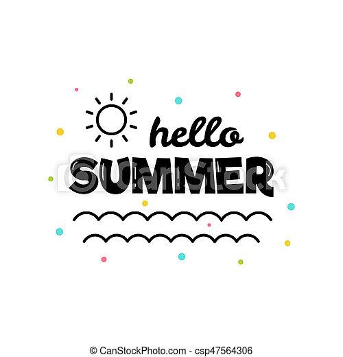 hello summer vector illustration rh canstockphoto com summer vector files summer vector free