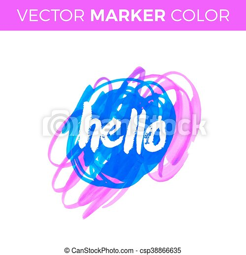 Hello Vector Lettering With Hand Drawn Gift Cards Birthday