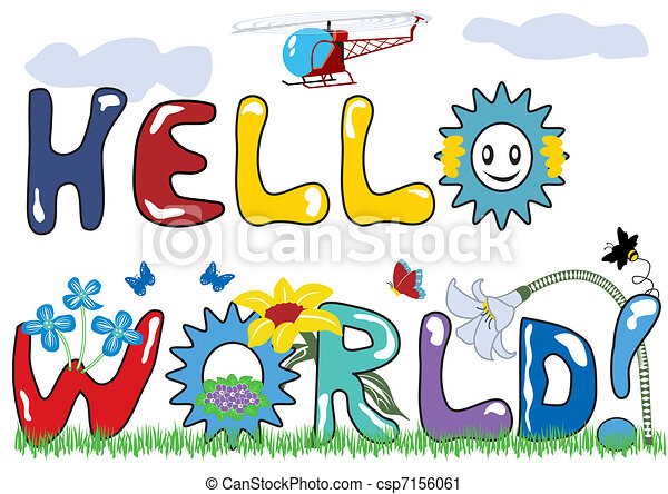 Hello world letters - csp7156061
