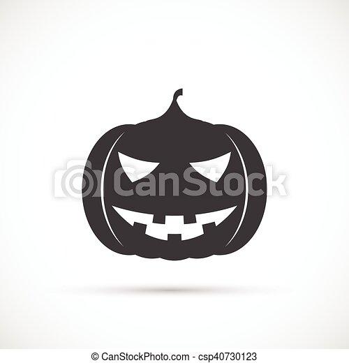 Helloween pumpkin icon - csp40730123