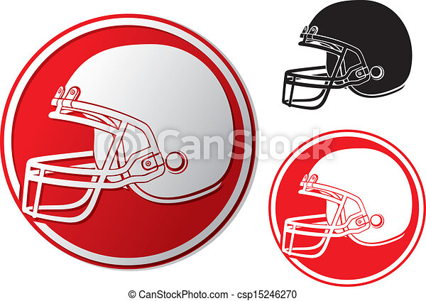 helm, amerikaan voetbal, pictogram - csp15246270