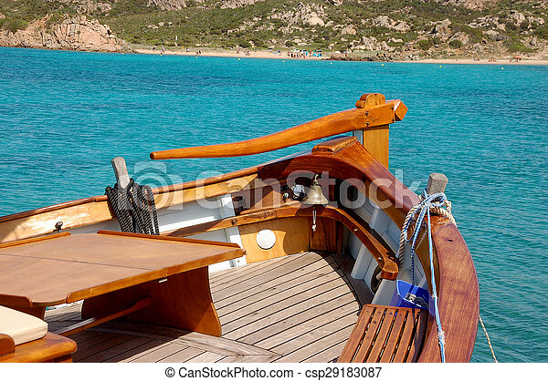 helm of the boat - csp29183087