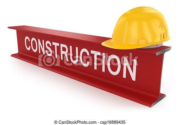 helmet., trave, concept., costruzione, metallo - csp16889435