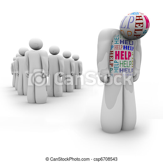 Help - Alone Person is Sad and Needs Assistance - csp6708543