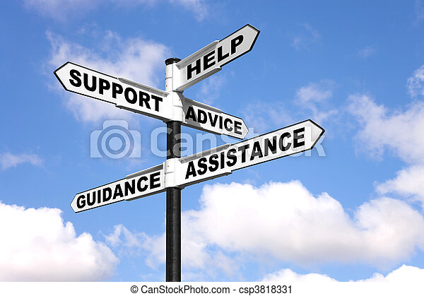 Help and support signpost - csp3818331