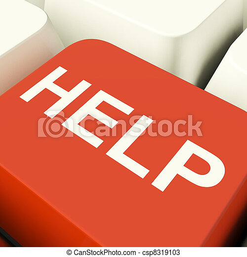 Help Computer Key Showing Assistance Support And Answers - csp8319103